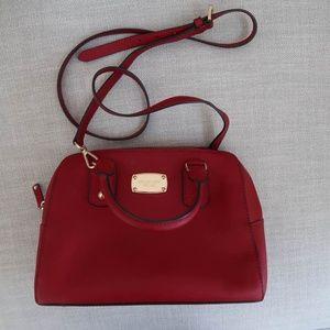 Authentic Michael Kors red crossbody bag